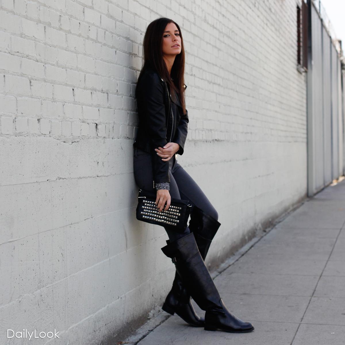 glam rock chic look dailylook. Black Bedroom Furniture Sets. Home Design Ideas