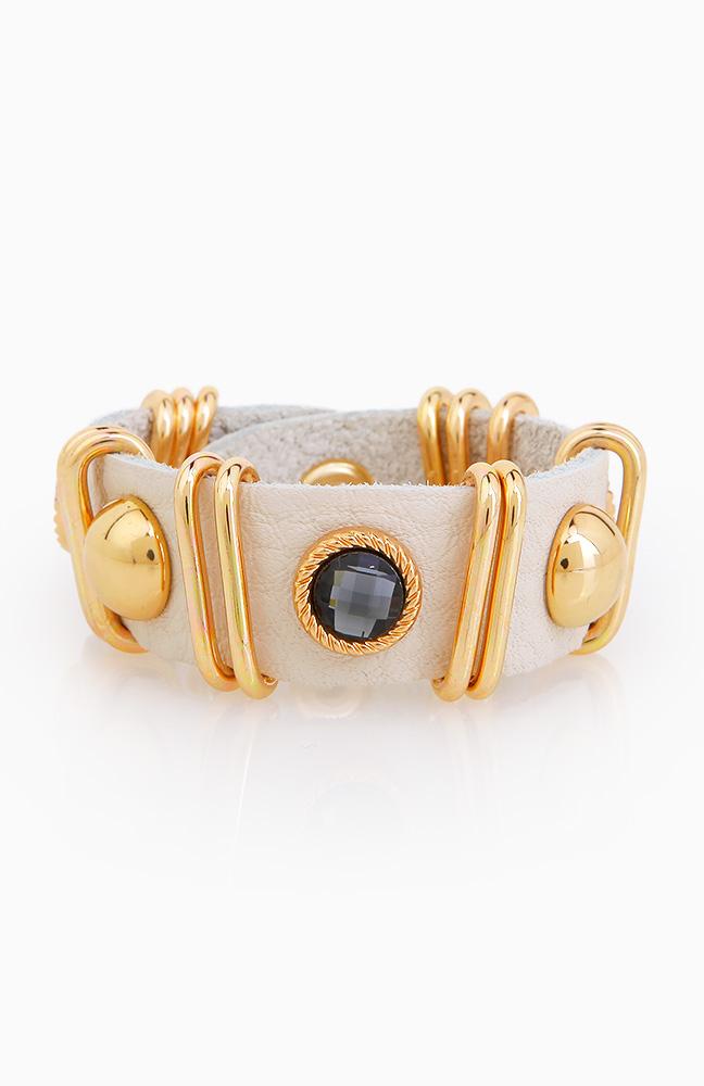 Stud n Stone Bracelet in Ivory