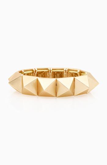Solid Pyramid Stretch Bracelet Slide 1