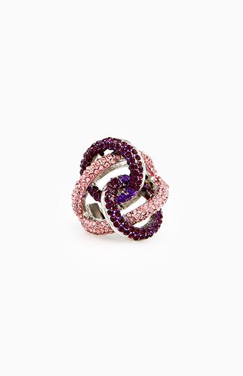Crystal Looped Ring Slide 1