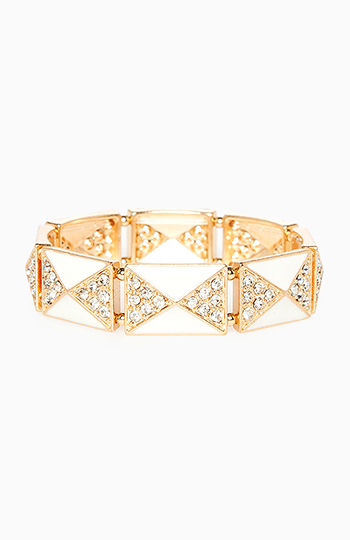 Art Deco Pyramid Bracelet Slide 1