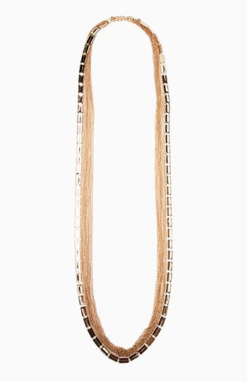Multi Strand Chain Necklace Slide 1