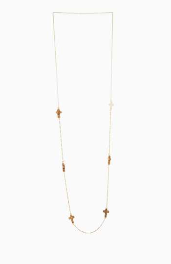 Delicate Multi Cross Necklace Slide 1