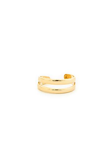 Double Band Midi Ring Slide 1