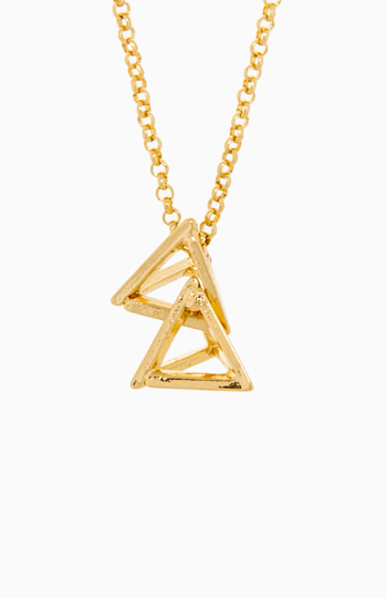 Stacked Pyramid Pendant Necklace Slide 1
