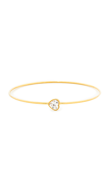 DAILYLOOK Crystal Heart Bangle Bracelet Slide 1