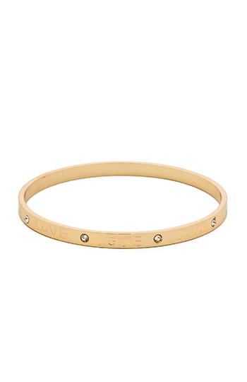 DAILYLOOK Love Rhinestone Bangle Bracelet Slide 1