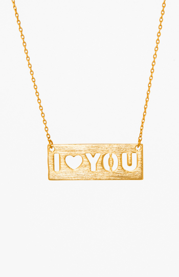 'I Love You' Pendant Necklace Slide 1