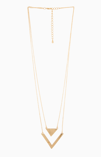 DAILYLOOK Love Triangles Necklace Slide 1