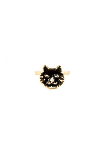 Happy Black Cat Ring Slide 1