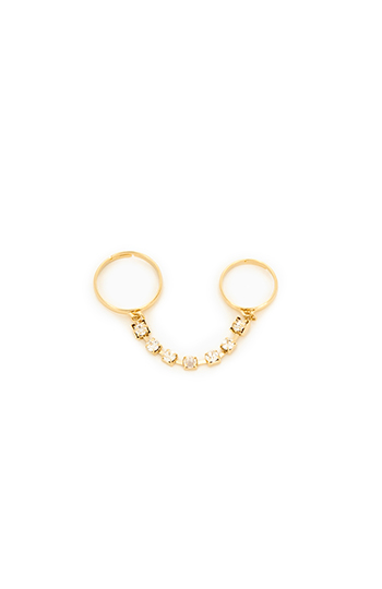 Sparkling Chain Ring Duo Slide 1