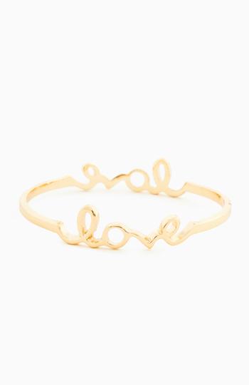 Double Love Bangle Bracelet Slide 1
