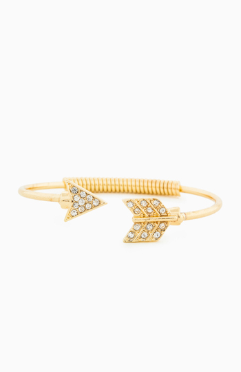 DAILYLOOK Rhinestone Arrow Bracelet Slide 1