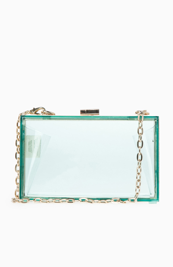 Lucite Box Clutch Slide 1