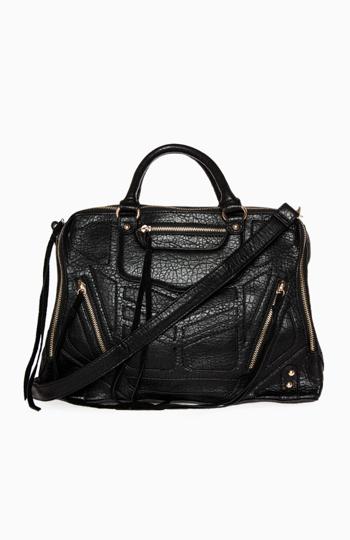 Edgy Zippered Handbag Slide 1