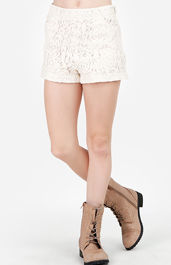 Floral Lace Shorts Slide 1