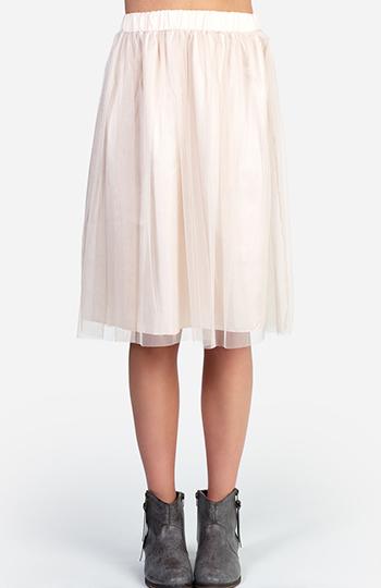 Layered Lace Midi Skirt Slide 1