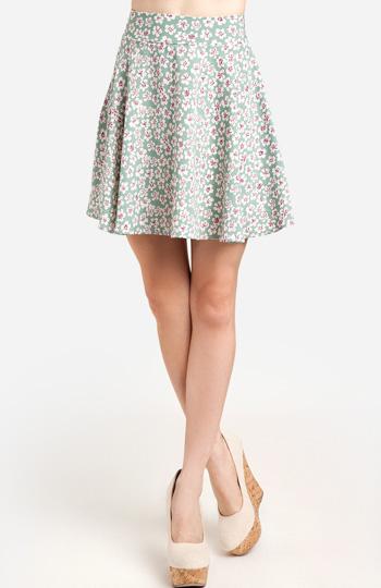 Silky Floral Circle Skirt Slide 1