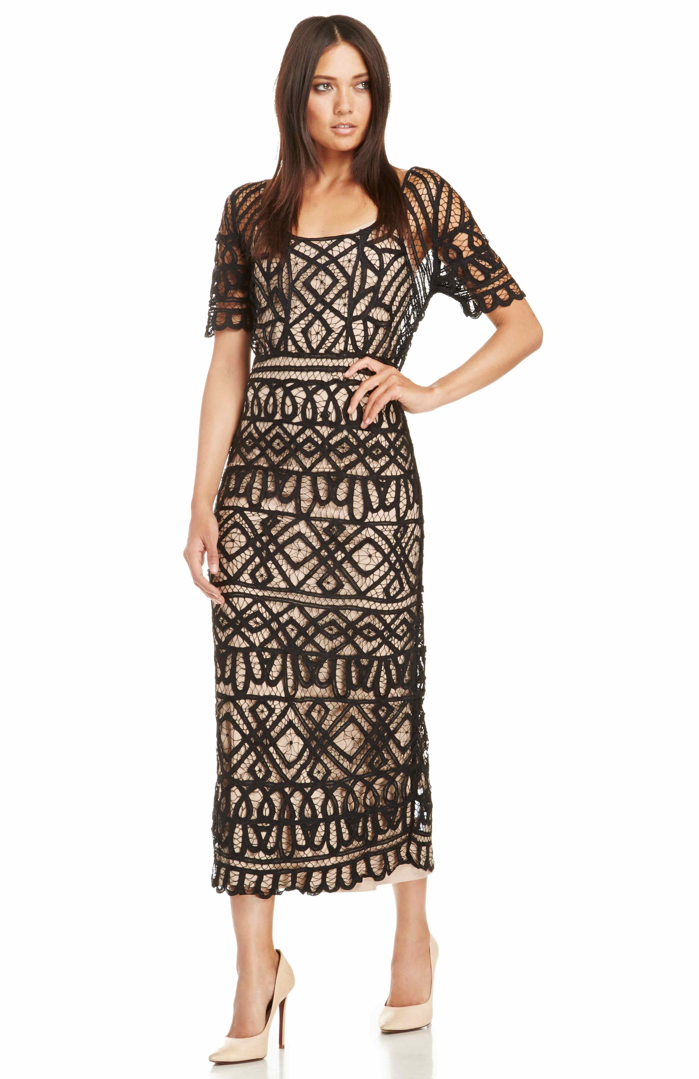 Stone Cold Fox Denver Lace Dress in Black | DAILYLOOK