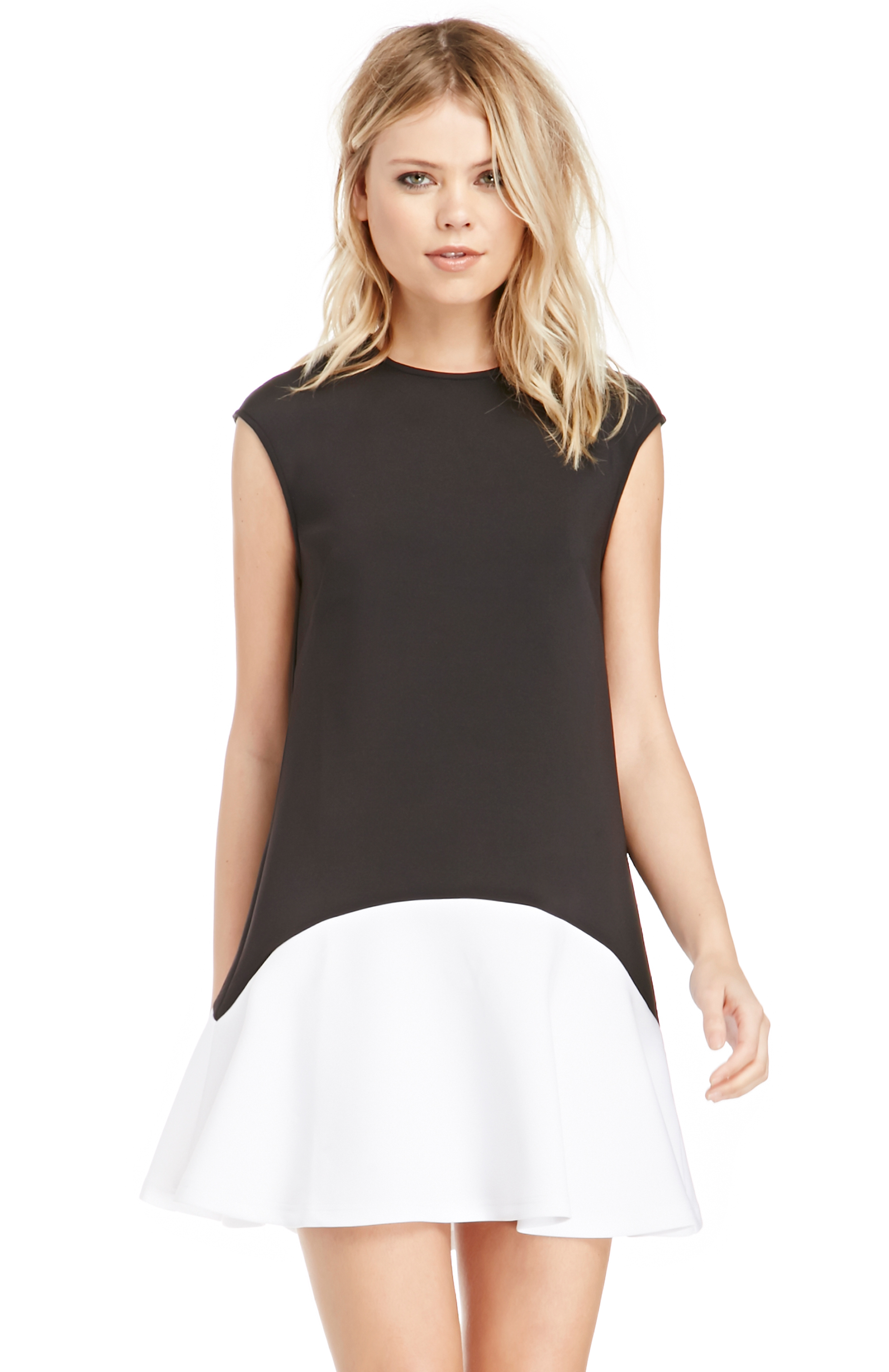 The Fifth Label Anchor Colorblock Dress In Black White