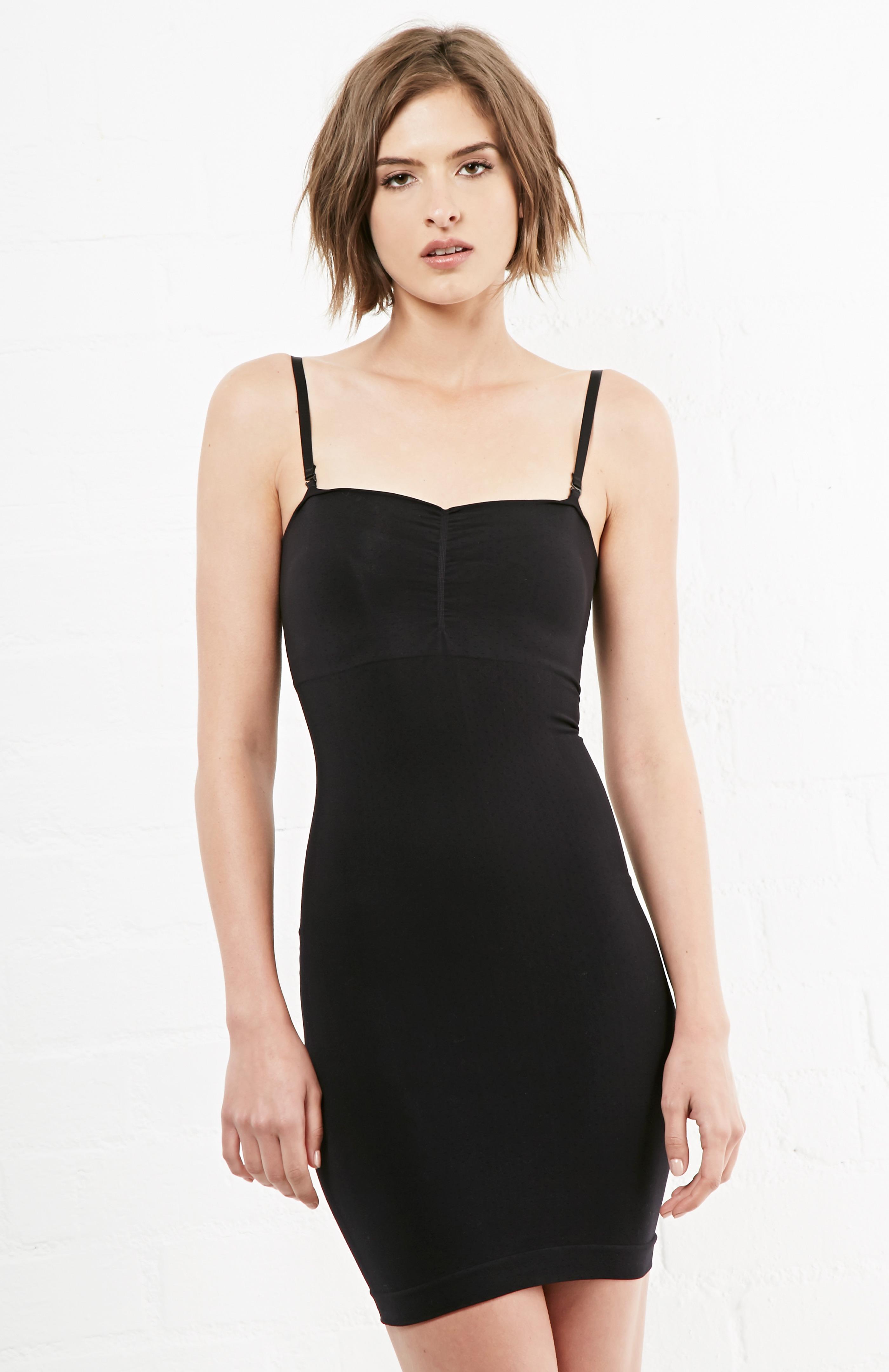 c15fed3cc2 Jewel Toned The Major Mini Slip Dress in Black