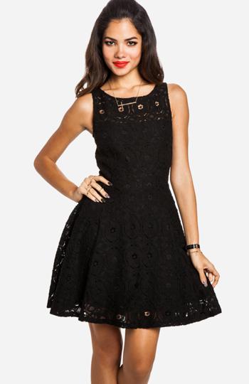 Bb Dakota Renley Lace Dress In Black Dailylook