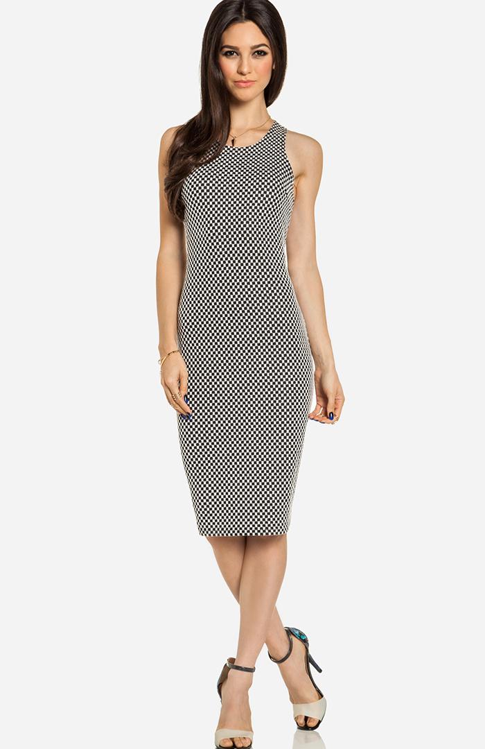 Pinterest black and white midi dress new look knitwear