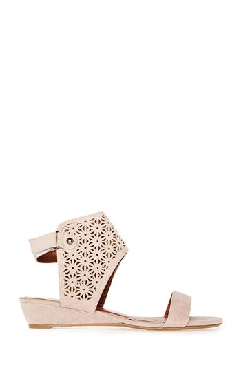 Laser Cut Cuff Sandals Slide 1