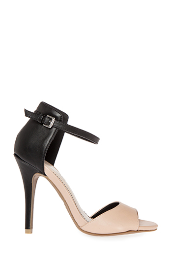 Two Tone Ankle Strap Heels Slide 1