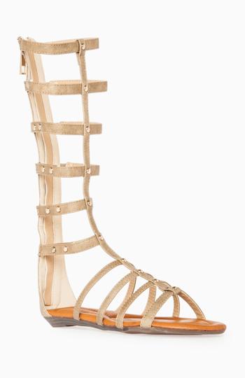 Studded Gladiator Sandals Slide 1