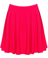Bright Pleated Circle Skirt