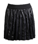 Pleated Leatherette Skirt