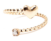 Heart Wrap Midi Ring