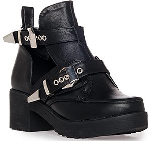 Utility Cutout Buckle Boots