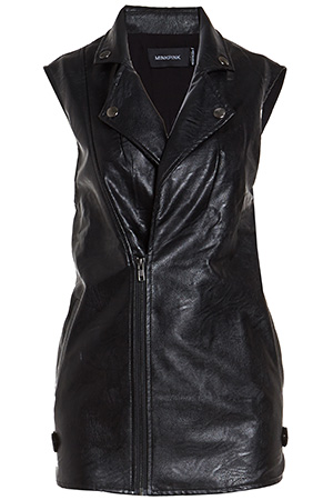 MINKPINK All I Need Vegan Leather Biker Vest