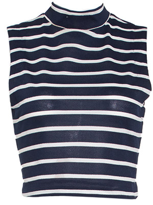 J.O.A. Striped Knit Crop Top
