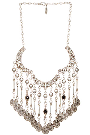 Chanour Coin Fringe Necklace
