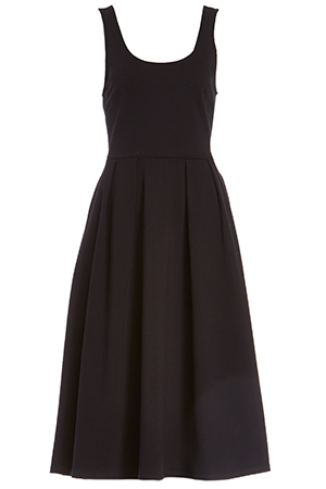 Pleated A-Line Midi Dress