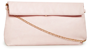 Maya Vegan Leather Large Fold Over Clutch