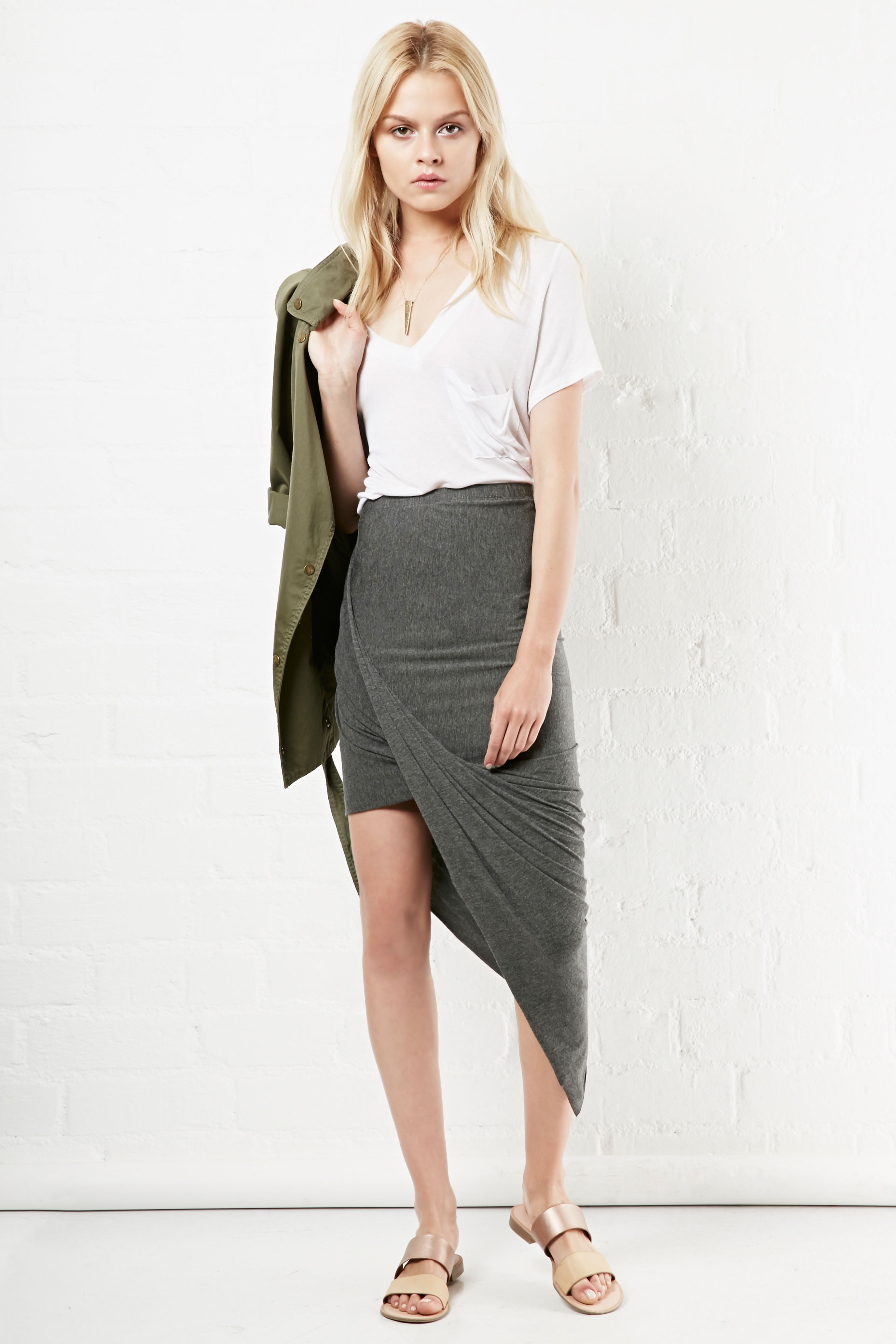 Twisted High Low Skirt