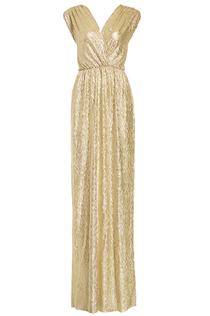 Ethereal Metallic Maxi Dress