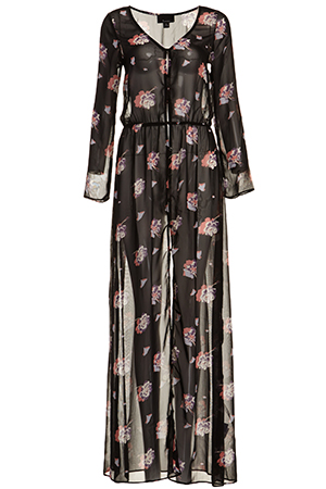 Sheer Floral Button Down Maxi Dress