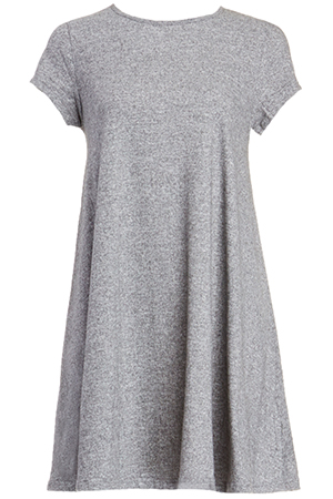 a40ce2cc68d7 Glamorous T-Shirt Swing Dress in Grey