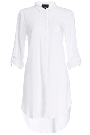 Classic Woven Button Down Tunic