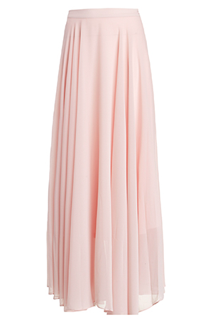 Lucy Paris Chiffon Maxi Skirt in Light Pink | DAILYLOOK