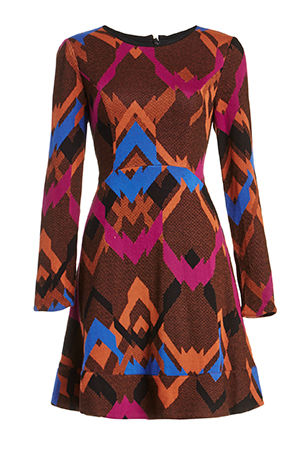 Harlyn Chevron Fit & Flare Dress