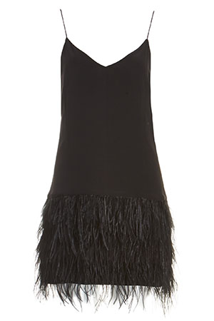 SAYLOR Silk Mia Feather Dress