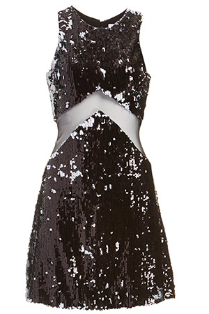 Dress The Population Tara Sequin Mesh Dress