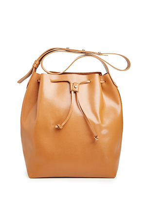 Kelsi Dagger Leather Wythe Bucket Hobo Bag