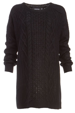 MINKPINK Chalet Girl Cable Sweater Dress